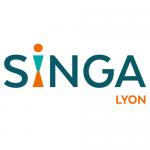 Logo Singa Lyon, accompagné par Ronalpia