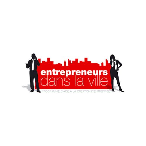 logo entrepreneur das la ville partenaire de ronalpia