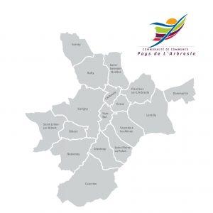 Carte Pays de l'Arbresle dans l'ouest Lyonnais