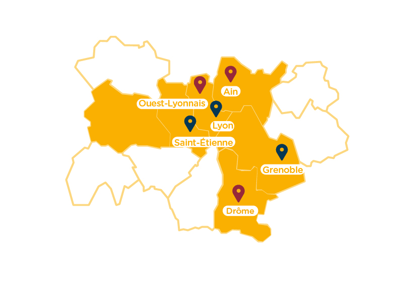 Carte deploiement region AURA Ronalpia