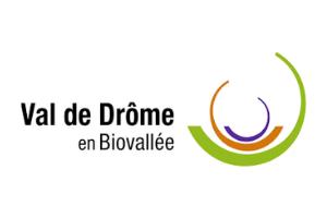 Logo Val de Drôme, partenaire de Ronalpia dans la Biovallée
