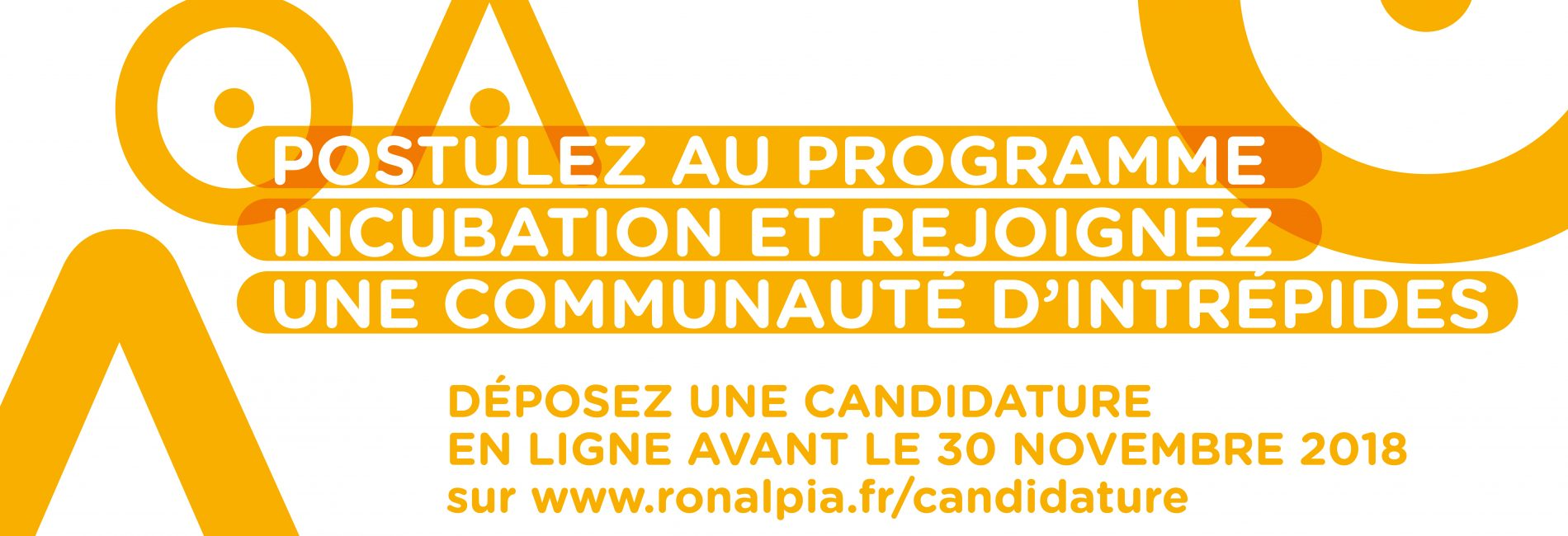 Home page site ronalpia - appel a candidatures incubation